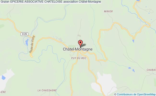 plan association Epicerie Associative Chateloise Châtel-Montagne