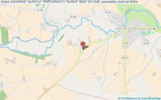 """plan association Equipage """"alpaflo"""" Participant A '""""europ' Raid"""" En 2020."""