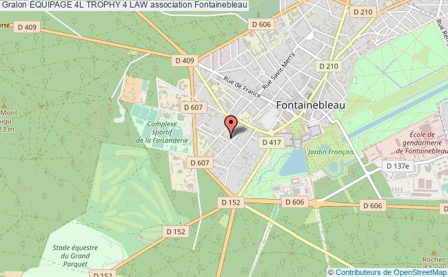 plan association Équipage 4l Trophy 4 Law Fontainebleau