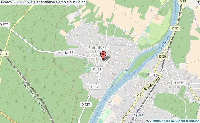 plan association Équitango Samois-sur-Seine