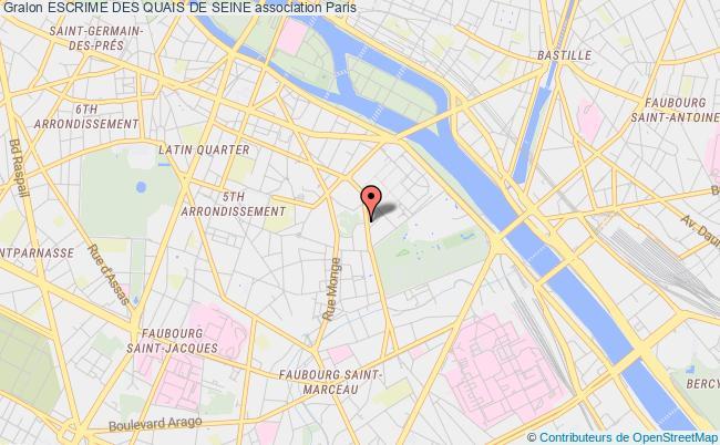 plan association Escrime Des Quais De Seine