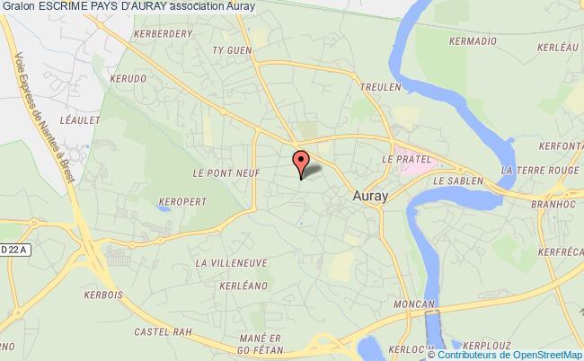 plan association Escrime Pays D'auray Auray
