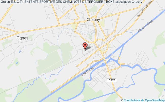 plan association E.s.c.t ( Entente Sportive Des Cheminots De Tergnier ) Boxe