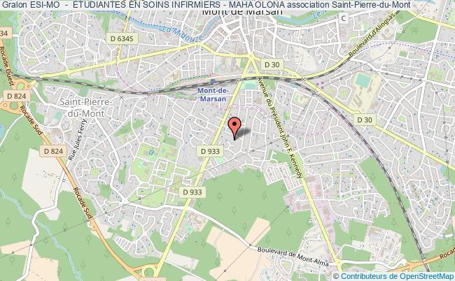 plan association Esi-mo  -  Étudiantes En Soins Infirmiers - Maha Olona Saint-Pierre-du-Mont