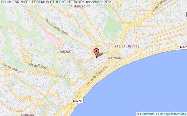 plan association Esn Nice - Erasmus Student Network