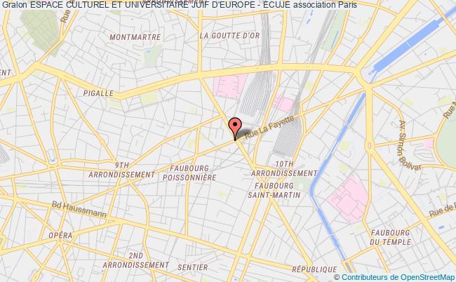 plan association Espace Culturel Et Universitaire Juif D'europe - Ecuje