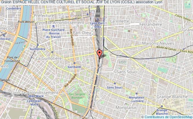 plan association Espace Hillel Centre Culturel Et Social Juif De Lyon (ccsjl) Lyon