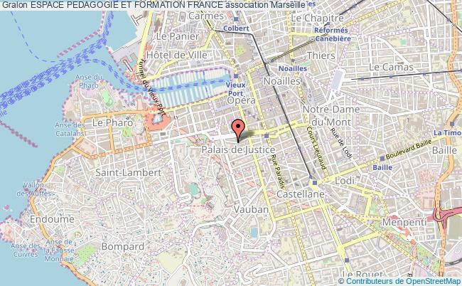 plan association Espace Pedagogie Et Formation France Marseille
