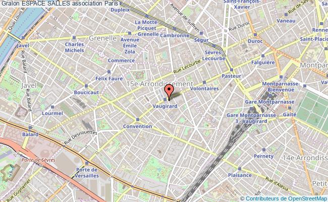 plan association Espace Salles Paris