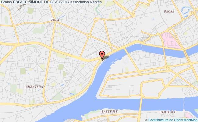 plan association Espace Simone De Beauvoir