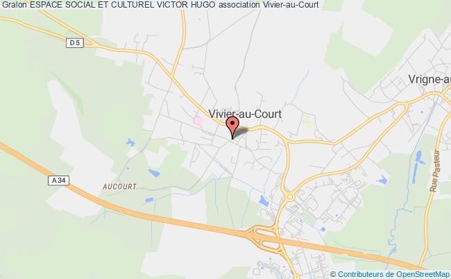 plan association Espace Social Et Culturel Victor Hugo