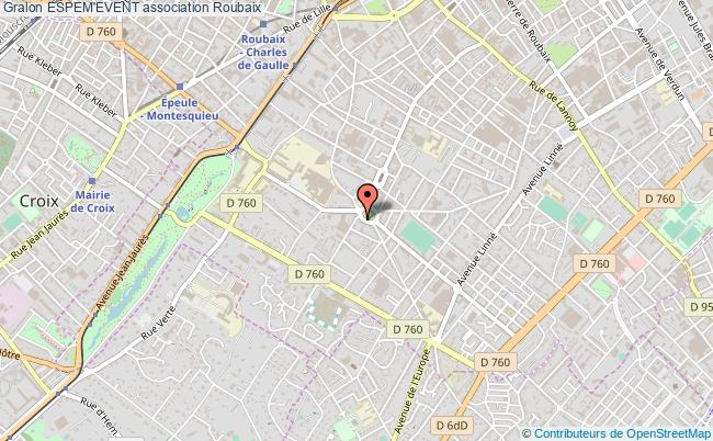 plan association Espem'event Roubaix