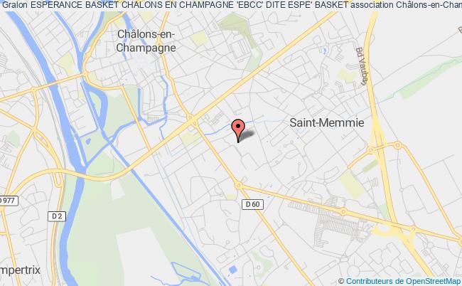 plan association Esperance Basket Chalons En Champagne 'ebcc' Dite Espe' Basket