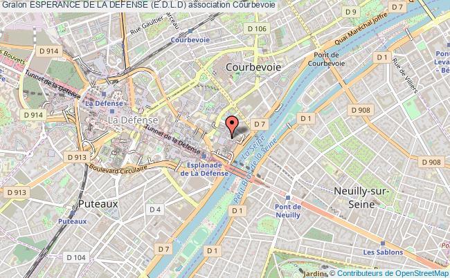 plan association Esperance De La Defense (e.d.l.d) Courbevoie