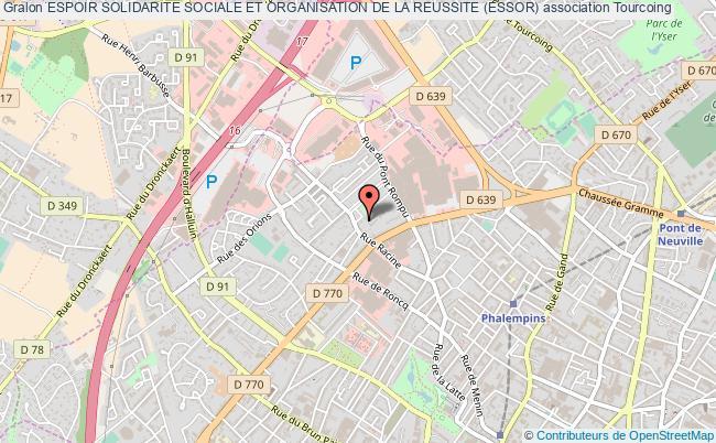 plan association Espoir Solidarite Sociale Et Organisation De La Reussite (essor)