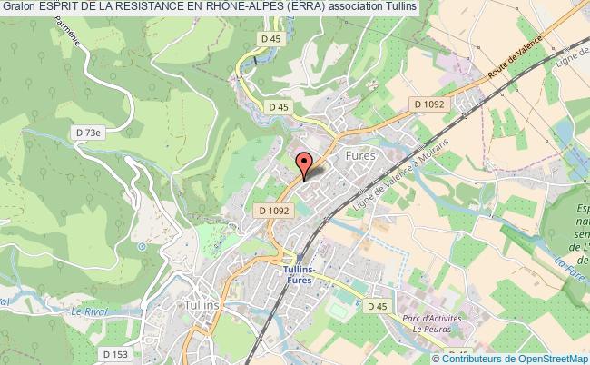 plan association Esprit De La Resistance En RhÔne-alpes (erra) Tullins