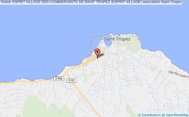 plan association Esprit Village Des Commercants De Saint Tropez (esprit Village)