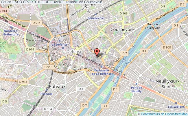plan association Esso Sports Ile De France Courbevoie