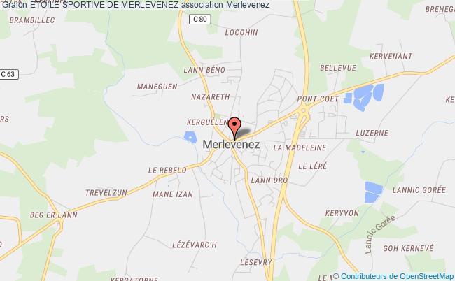 plan association Etoile Sportive De Merlevenez