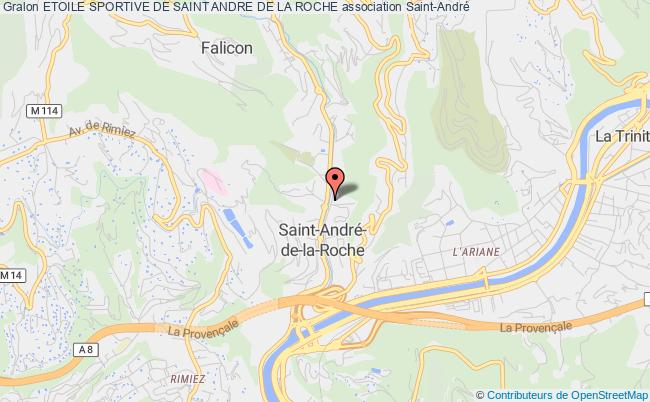 plan association Etoile Sportive De Saint Andre De La Roche Saint-André-de-la-Roche
