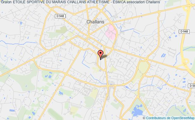 plan association Etoile Sportive Du Marais Challans Athletisme - Esmca