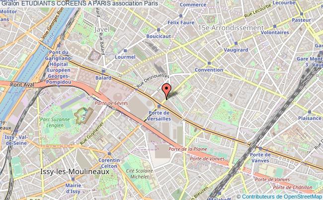 plan association Etudiants Coreens A Paris Paris