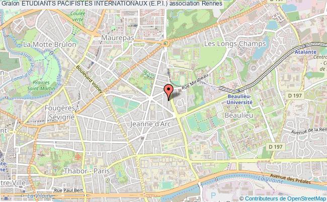 plan association Etudiants Pacifistes Internationaux (e.p.i.) Rennes