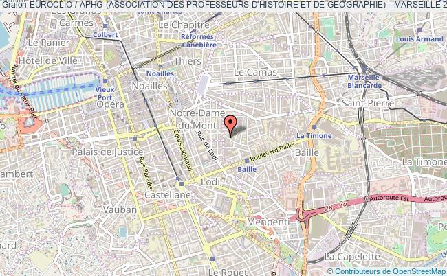 plan association Euroclio / Aphg (association Des Professeurs D'histoire Et De Geographie) - Marseille 2018 Marseille
