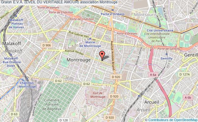 plan association E.v.a. (eveil Du Veritable Amour) Montrouge