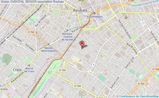 plan association Eventail SÉnior Roubaix