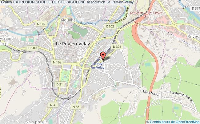 plan association Extrusion Souple De Ste Sigolene Le Puy-en-Velay Cédex