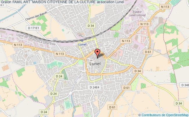 plan association Famil Art  Maison Citoyenne De La Culture