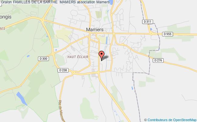 plan association Familles De La Sarthe  Mamers