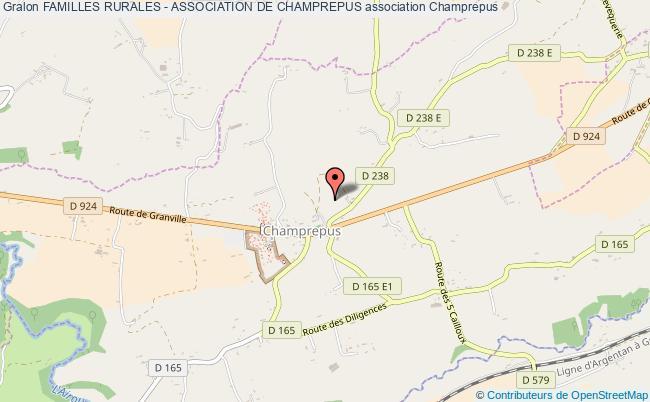 plan association Familles Rurales - Association De Champrepus Champrepus