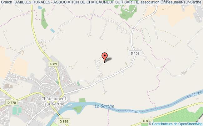 plan association Familles Rurales - Association De Chateauneuf Sur Sarthe Châteauneuf-sur-Sarthe
