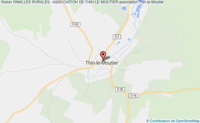 plan association Familles Rurales - Association De Thin-le-moutier