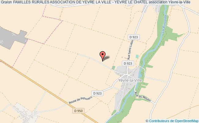 plan association Familles Rurales Association De Yevre La Ville - Yevre Le Chatel