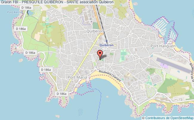 plan association Fbi - Presqu'ile Quiberon - Sante Quiberon