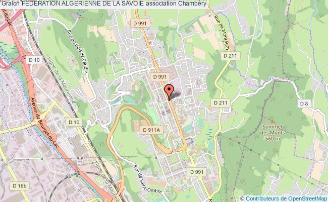 plan association Federation Algerienne De La Savoie
