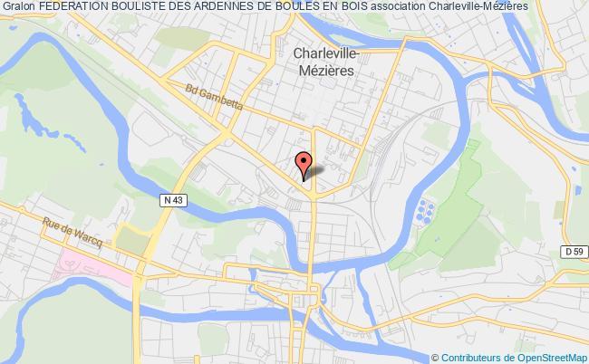 plan association Federation Bouliste Des Ardennes De Boules En Bois