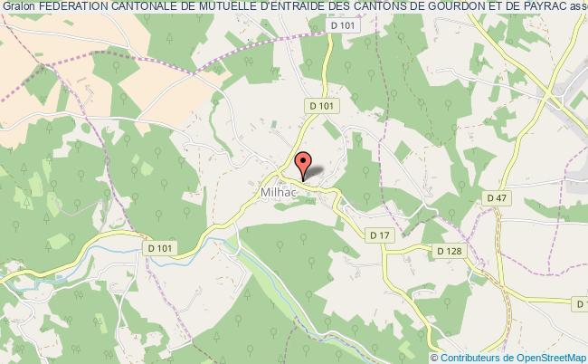 plan association Federation Cantonale De Mutuelle D'entraide Des Cantons De Gourdon Et De Payrac