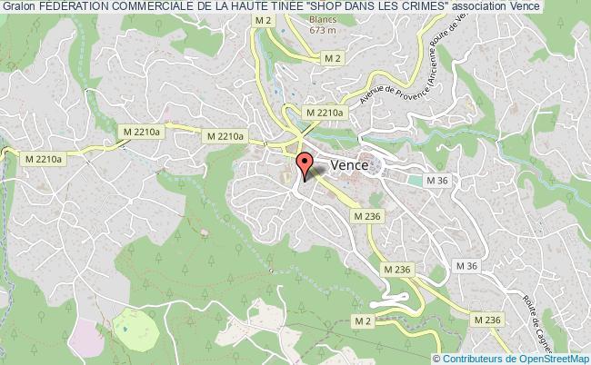 """plan association FÉdÉration Commerciale De La Haute TinÉe """"shop Dans Les Crimes"""""""