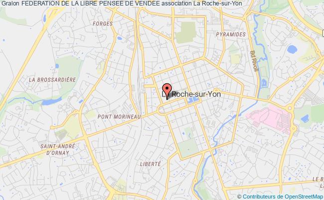 plan association Federation De La Libre Pensee De Vendee La    Roche-sur-Yon