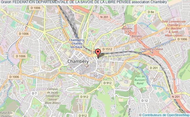plan association Federation Departementale De La Savoie De La Libre Pensee