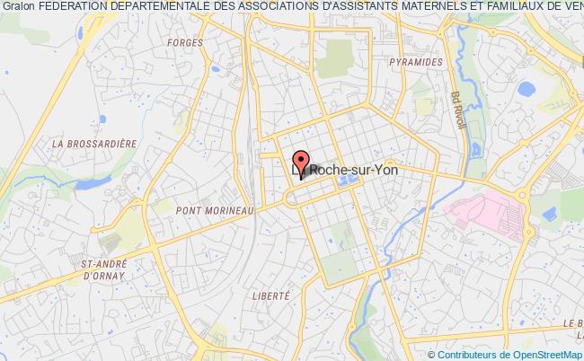 plan association Federation Departementale Des Associations D'assistants Maternels Et Familiaux De Vendee La    Roche-sur-Yon