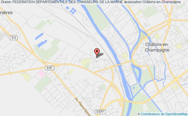 plan association Federation Departementale Des Chasseurs De La Marne