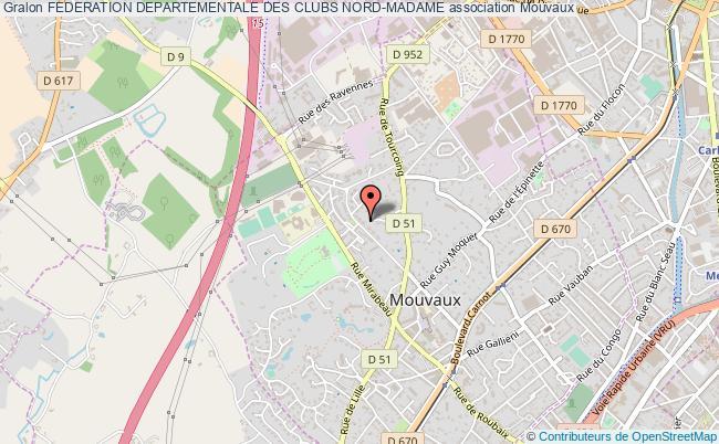 plan association Federation Departementale Des Clubs Nord-madame