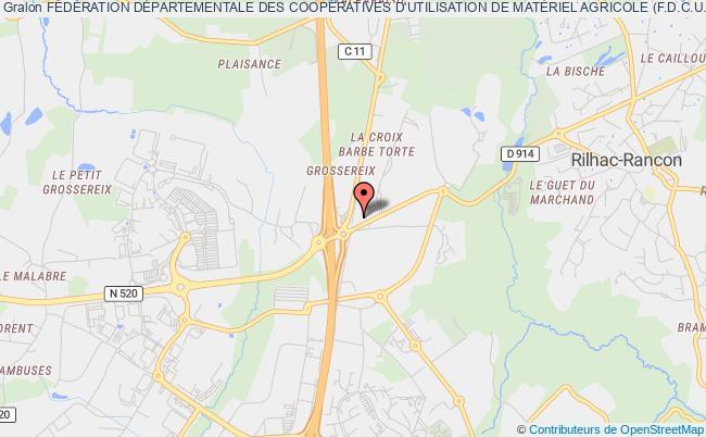 plan association FÉdÉration DÉpartementale Des CoopÉratives D'utilisation De MatÉriel Agricole (f.d.c.u.m.a.) De La Haute Vienne