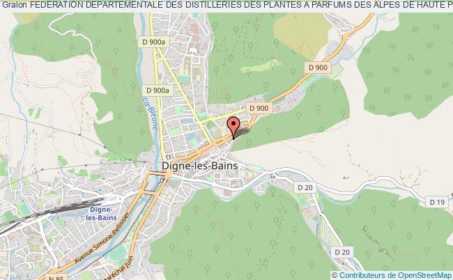 plan association Federation Departementale Des Distilleries Des Plantes A Parfums Des Alpes De Haute Provence