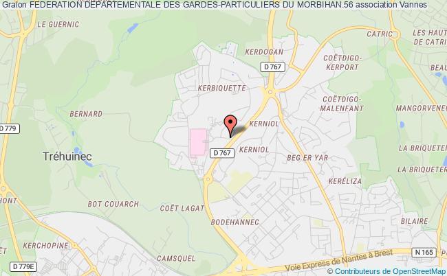 plan association Federation Departementale Des Gardes-particuliers Du Morbihan.56